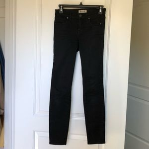 Madewell mid rise ankle black jeans